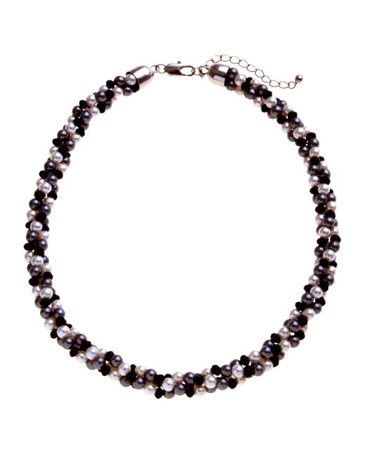 John Lewis | Black Twist Faux Pearl Necklace | Lyst