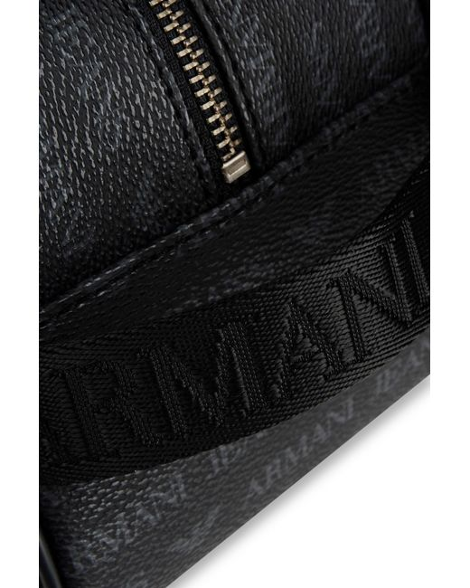 Armani Jeans | Black Beauty Case in Faux Leather with Allover Logo for Men | Lyst