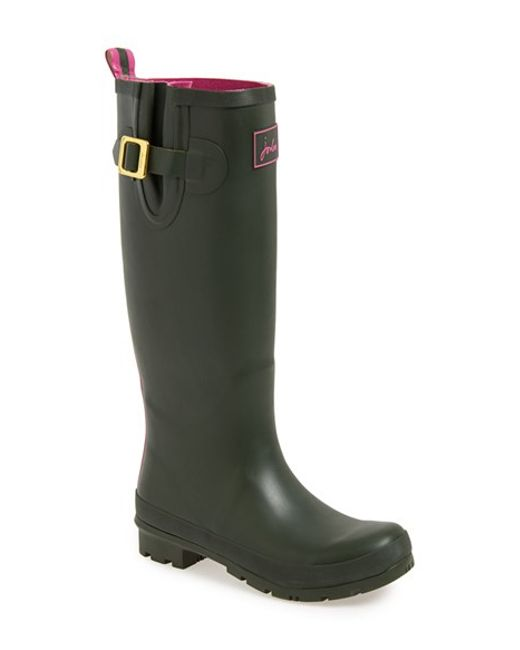 Joules | Green Field Welly Rubber Rain Boots | Lyst