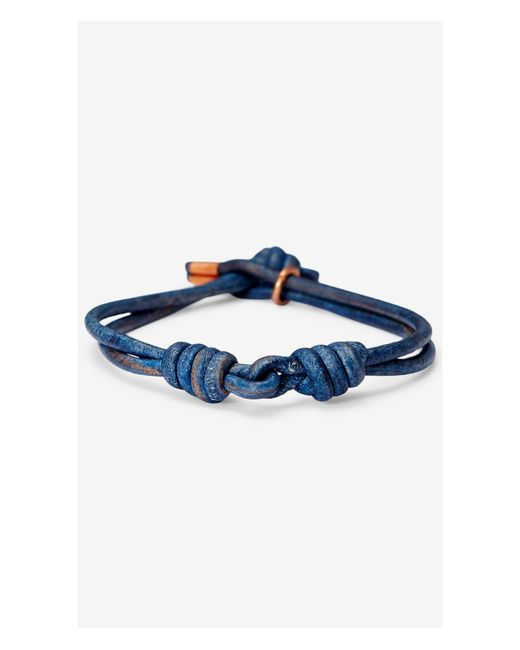 Express | Maritime Supply Co Blue Captain's Link Bracelet for Men | Lyst
