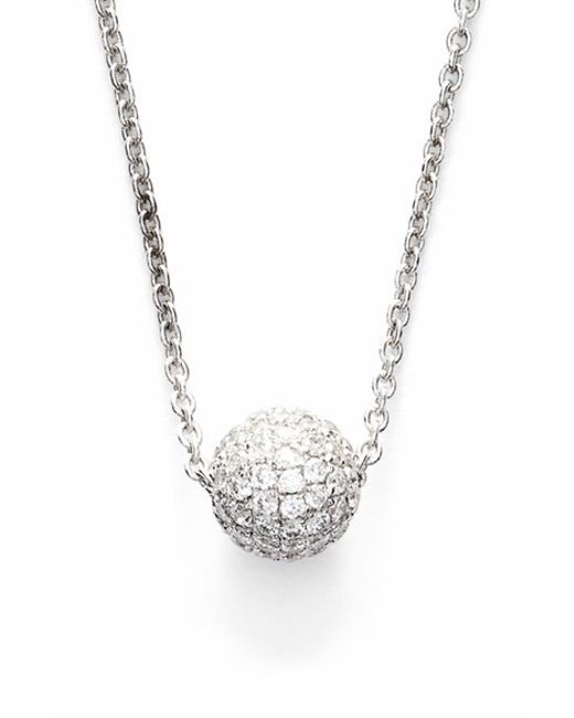 Bony Levy | Metallic Small Diamond Pave Ball Pendant Necklace (limited Edition) (nordstrom Exclusive) | Lyst