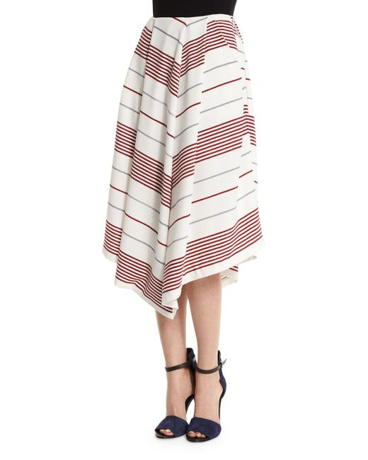 elizabeth and watson striped a line skirt in lyst