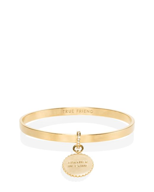 Kate Spade | Metallic Say Yes Scalloped Partners In Crime Bangle | Lyst