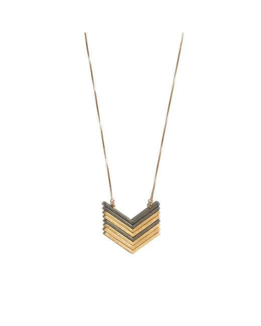 Madewell | Metallic Arrowstack Necklace | Lyst