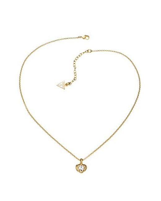 Guess | Metallic Gold Pendant Necklace | Lyst