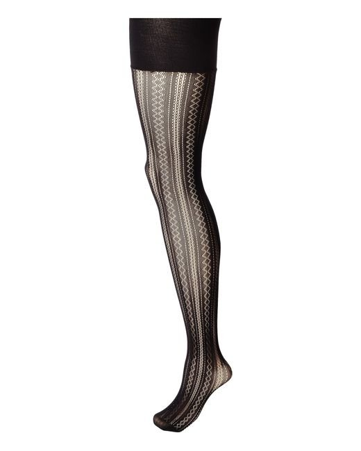 Spanx | Black Plaid Lace Tights | Lyst