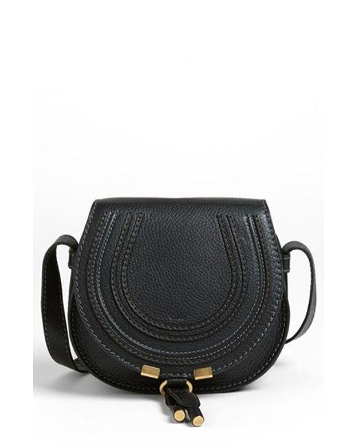 Chloé | Black Marcie Small Crossbody Bag | Lyst