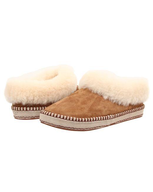 UGG | Brown Kids Cozy Suede Slippers | Lyst