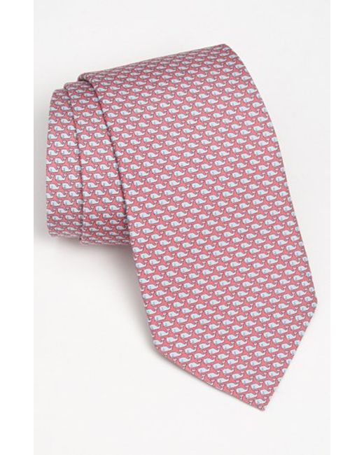 Vineyard Vines | Pink 'whale' Silk Tie for Men | Lyst