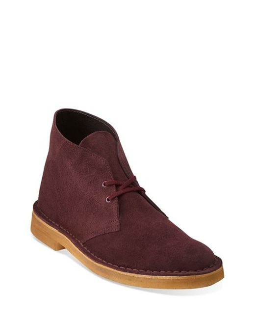 Clarks | Purple Clarks Originals 'desert' Boot for Men | Lyst