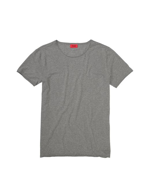 HUGO | Gray Loose-fit T-shirt In Cotton: 'depus' for Men | Lyst