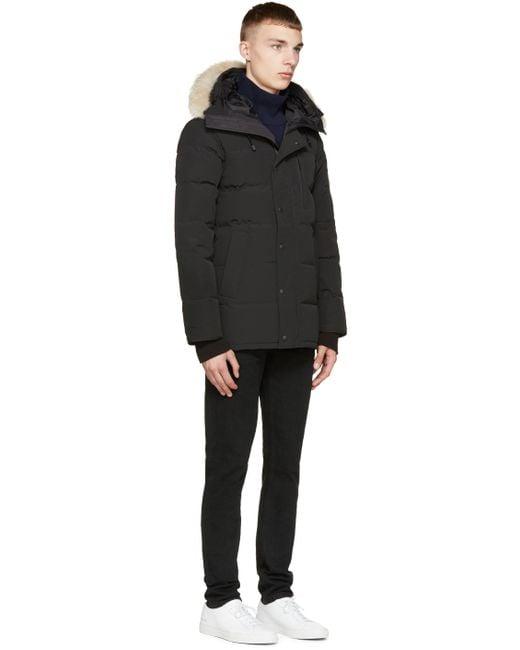 Canada Goose trillium parka outlet authentic - Canada goose Black Down & Fur Black Label Carson Parka in Black ...