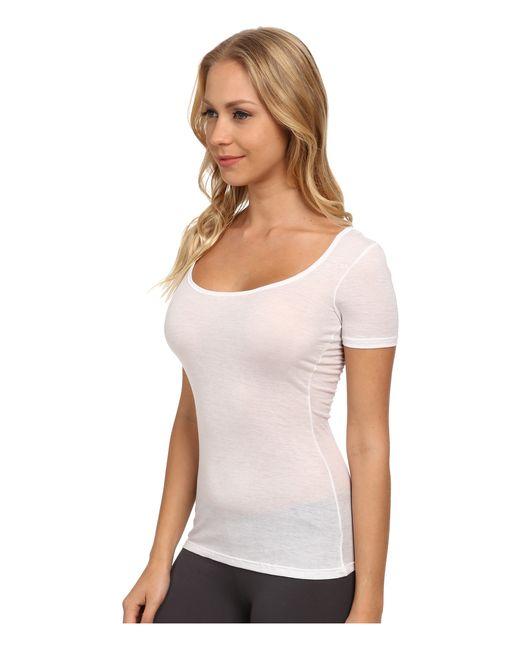 Hanro | White Ultralight Short Sleeve Top | Lyst
