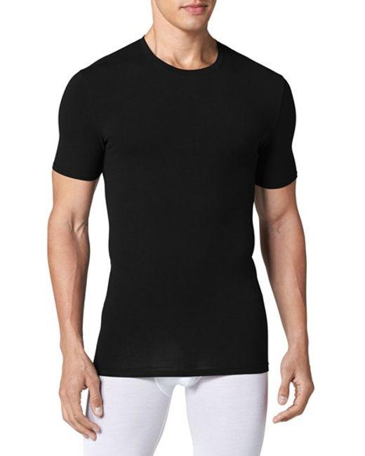 Tommy John   Black 'cool Cotton' Crewneck Undershirt for Men   Lyst