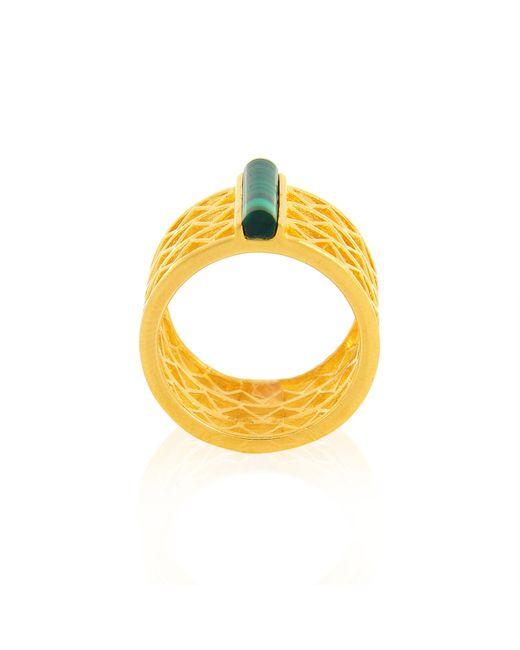 Alexandra Alberta - Metallic Guggenheim Malachite Ring - Lyst
