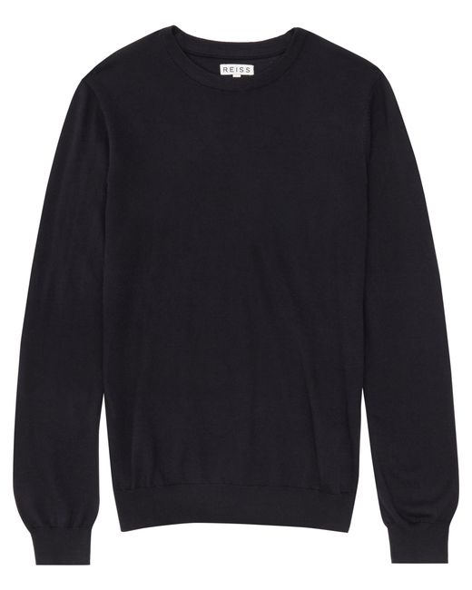 Reiss | Blue Riddle Merino Crew-neck Jumper for Men | Lyst