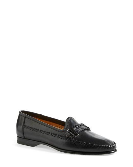 Santoni | Black 'gladwin' Bit Loafer for Men | Lyst