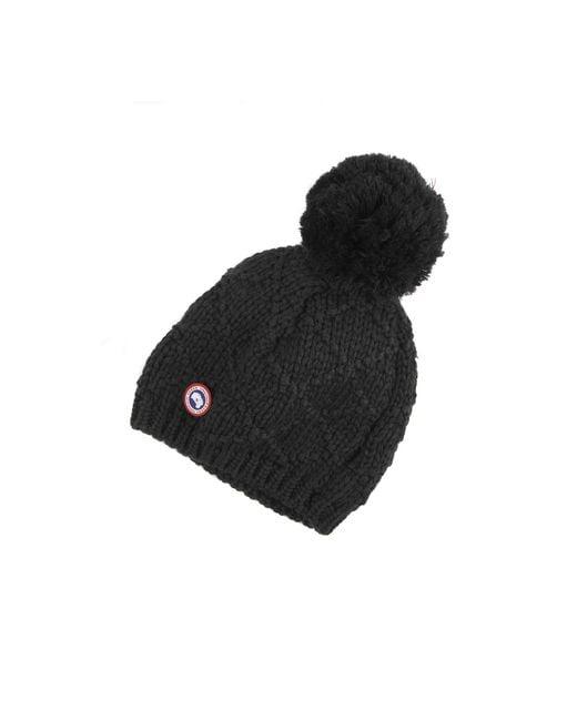 Canada Goose | Black Pom Merino Wool Beanie | Lyst