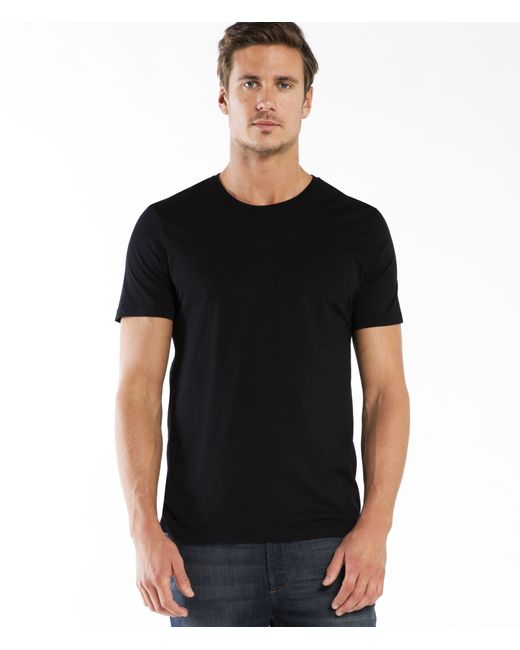 Michael Stars | Black Pacific Short Sleeve Crew Neck Tee for Men | Lyst