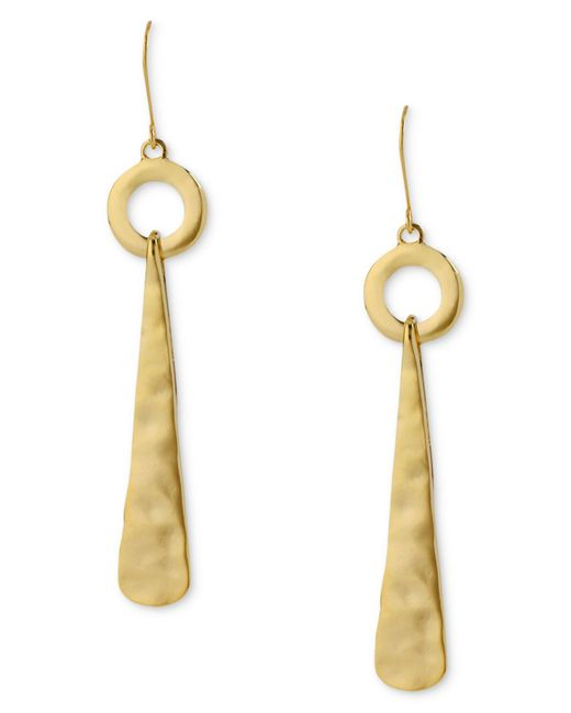 Robert Lee Morris | Metallic Earrings, Hammered Linear Drop Earrings | Lyst