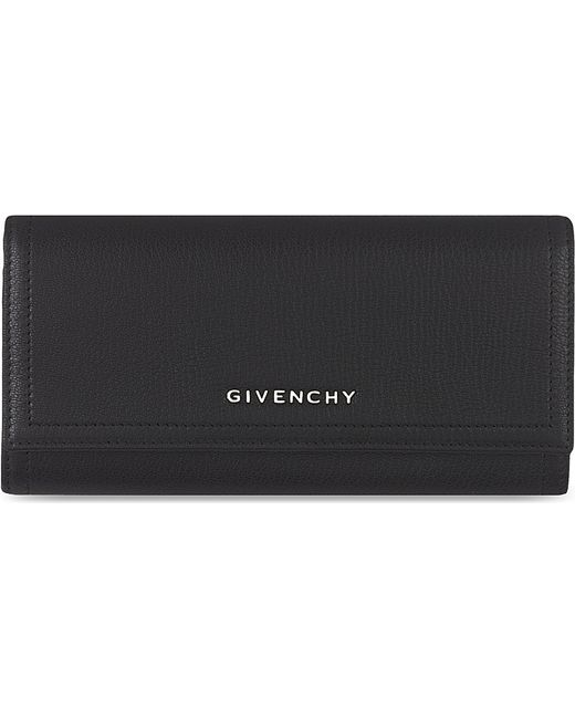 Givenchy | Black Foldover Leather Wallet | Lyst