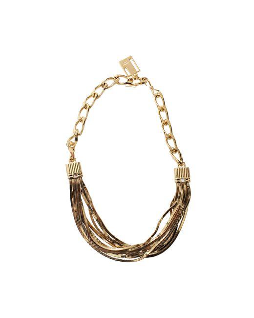Lanvin | Metallic Art Deco Short Necklace | Lyst