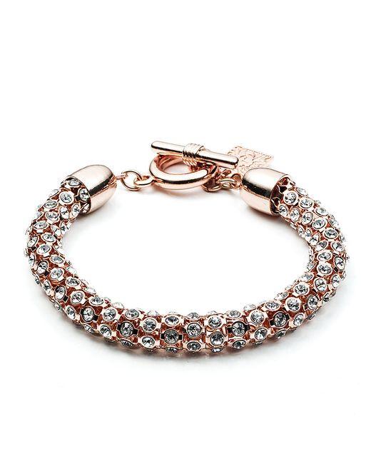 Anne Klein | Pink Rose Goldtone And Crystal Bracelet | Lyst