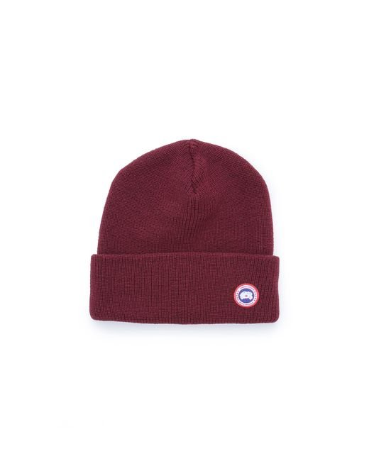 16ae7aa6393 Canada Goose Merino Watch Hat Color Red