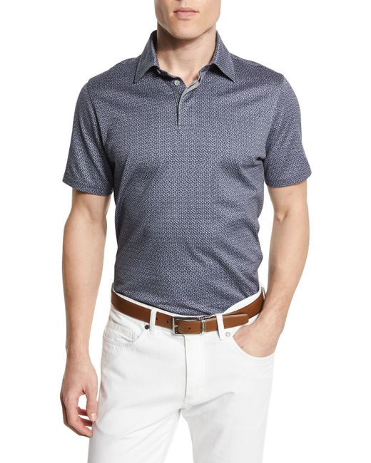 Ermenegildo zegna paisley print short sleeve jersey polo for Zegna polo shirts sale