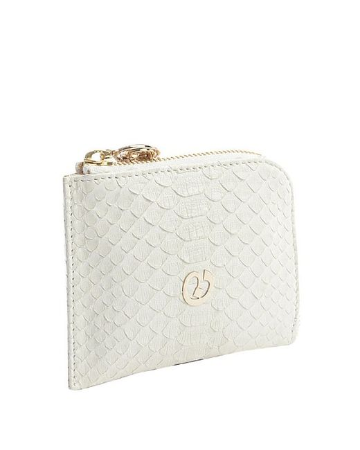 Nada Sawaya | White Medium Zip Around Python Wallet | Lyst