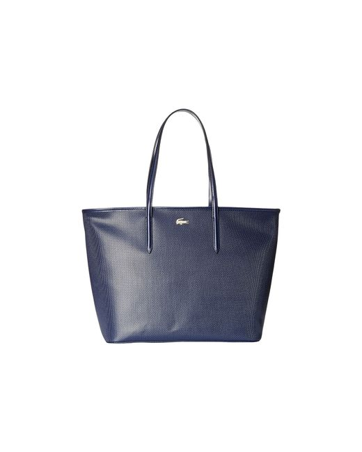Lacoste | Blue Chantaco Medium Tote | Lyst
