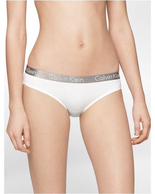 Calvin Klein | White Underwear Logo Cotton Stretch Bikini | Lyst