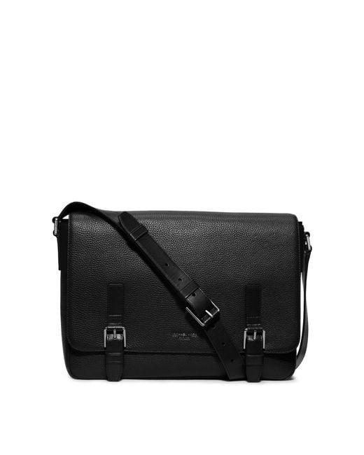 Michael Kors | Black Bryant Large Leather Messenger for Men | Lyst