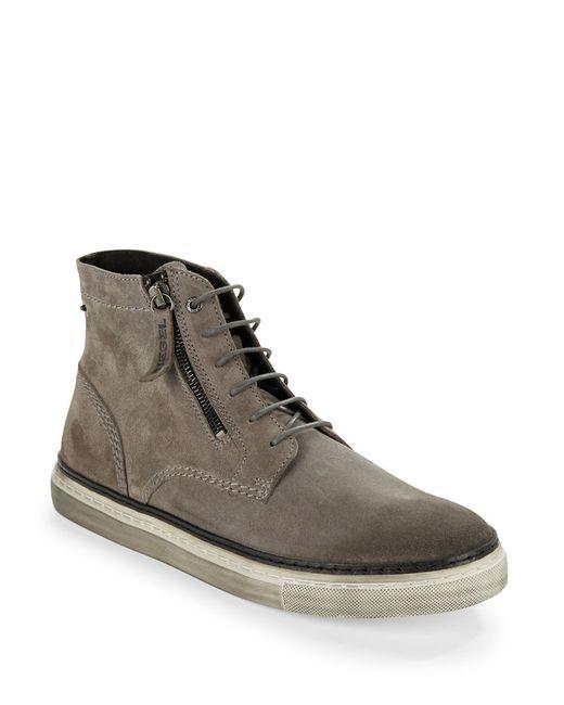 DIESEL | Gray Gun-tel D-blaast Boots for Men | Lyst