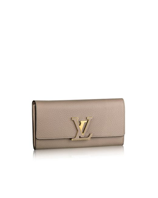 Louis Vuitton   Brown Capucines Wallet   Lyst