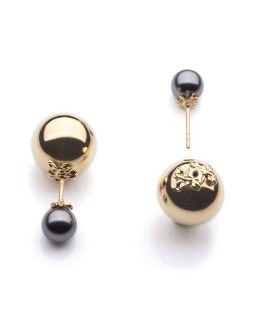 Kasun | Metallic Orb And Pearl Stud Earrings | Lyst