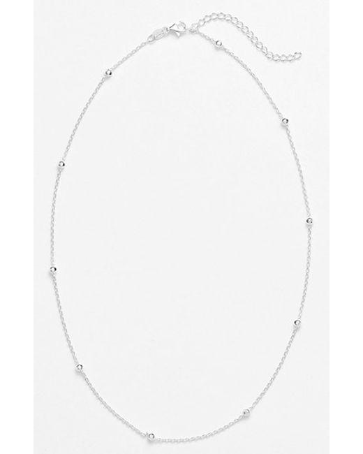 Argento Vivo | Metallic Station Necklace | Lyst