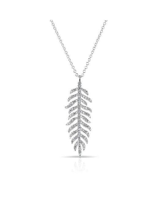 Anne Sisteron - Metallic 14kt White Gold Diamond Palm Necklace - Lyst