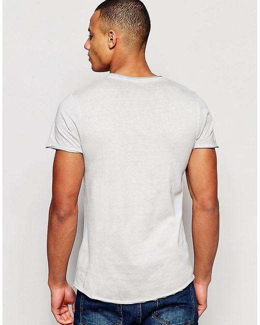jack jones t shirt in slim fit in white for men. Black Bedroom Furniture Sets. Home Design Ideas