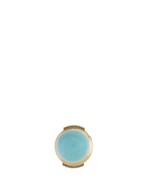 Yvonne Léon | Metallic Turquoise Stud Earring | Lyst