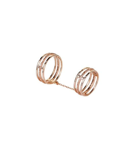 Tada & Toy | Metallic Victoria Falls Ring Rose Gold | Lyst