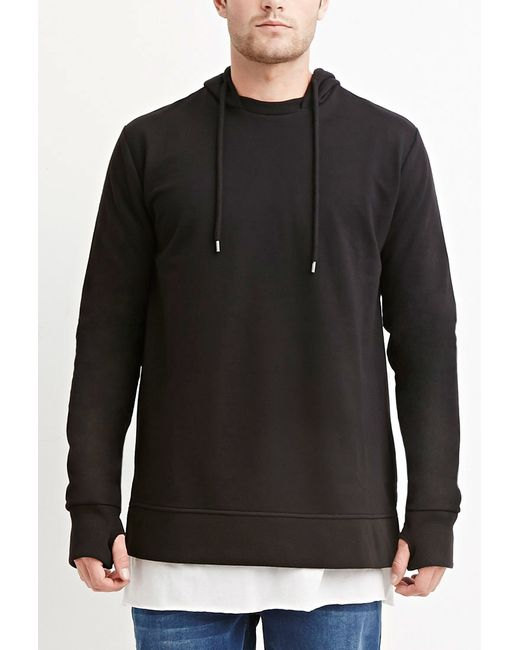 Forever 21 | Black Cotton-blend Vented Hoodie for Men | Lyst