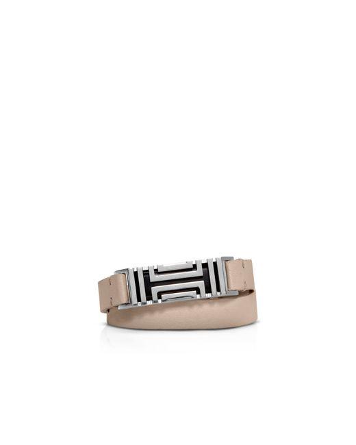 Tory Burch | Gray For Fitbit Double Wrap Bracelet | Lyst