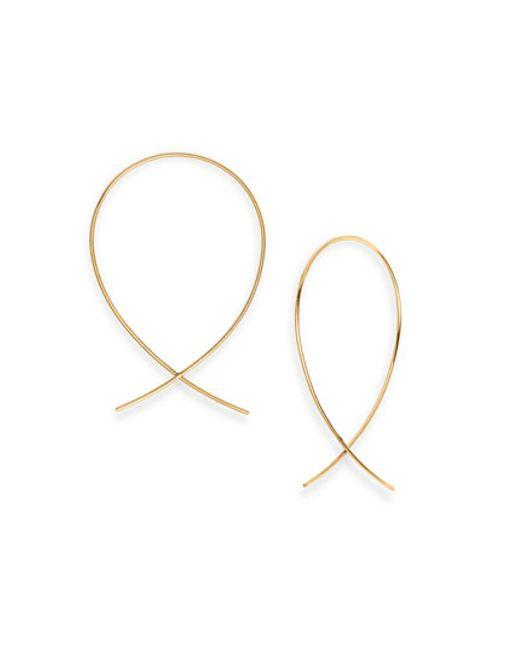 Lana Jewelry | Metallic 'upside Down' Small Hoop Earrings | Lyst