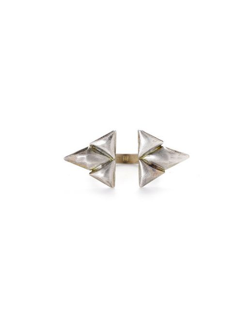 Bing Bang | Metallic Double Trident Ring | Lyst