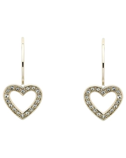 Melissa Odabash | Metallic Swarovski Crystal Hook Heart Drop Earrings | Lyst