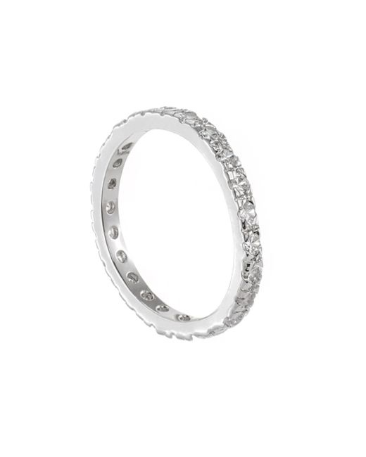 Kenneth Jay Lane | Metallic Classic Round Eternity Ring | Lyst