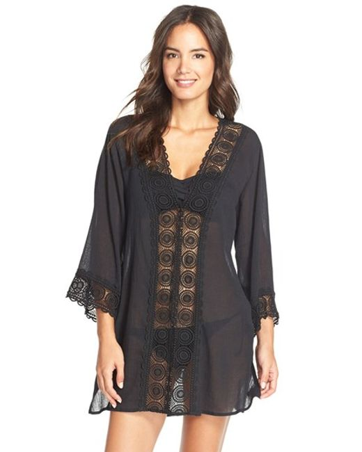 La Blanca | Black 'Island Fare' V-Neck Cover-Up Tunic | Lyst