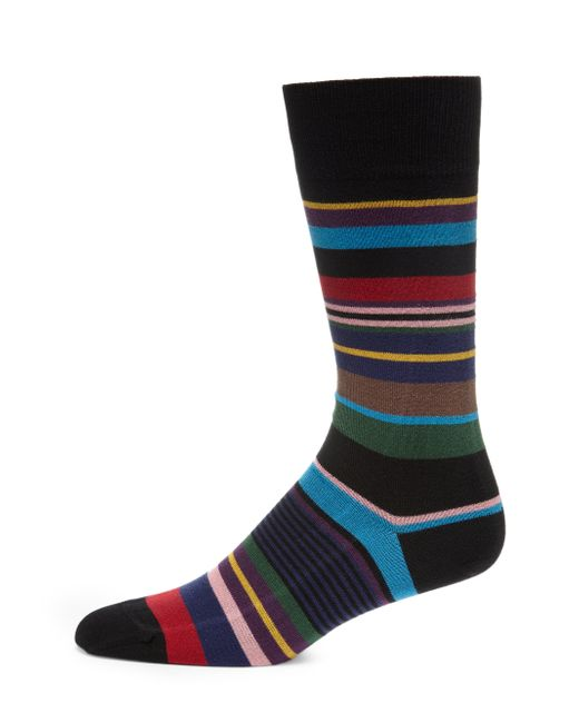 Paul Smith | Black Mixed Stripe Socks for Men | Lyst