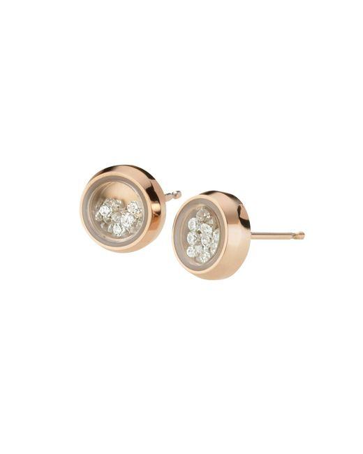 Storm | Metallic Rose Gold Mimi Earrings | Lyst